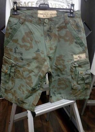 Хлопковые шорты карго в милитари стиле со множеством карманов