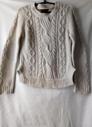 Бежевый вязаный свитер dorothy perkins