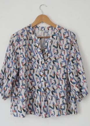 Стильная кофта блуза разлетайка в стиле mango можно для беременной размер м