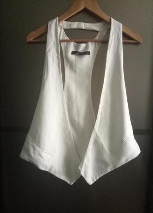 Белый жилет,жилетка zara
