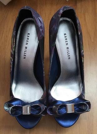 Туфлі туфли на каблуке karen millen кожа кожаные шкіра на каблук