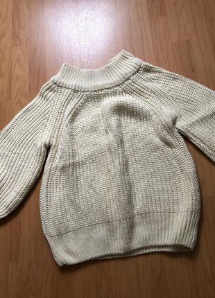 Вязанный свитер с рукавами три четверти