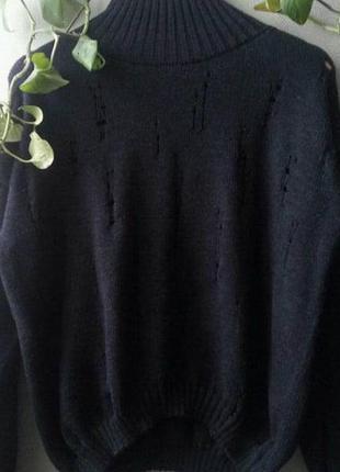 """Мериносовый свитер """"рваный"""""""