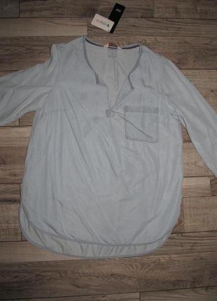 Стильная рубашка из тонкого денима от f&f р.14