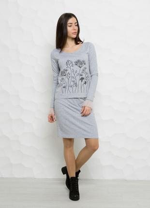 Стильный костюм ( свитшот+юбка)