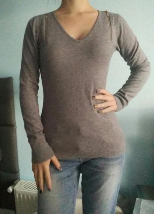 Весенняя распродажа теплый мягкий серый джемпер свитер кофта гольф