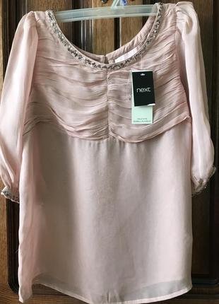Блузка next ніжно рожевого кольору