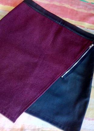 Крутая юбочка из эко кожи