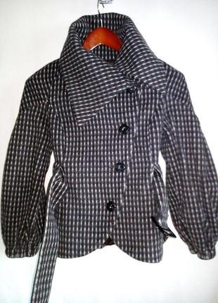 Пальто шерстяное zara c рукавами фонариками