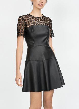 Кожаное платье zara