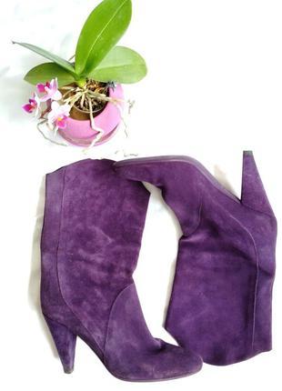 Фиолетовые, натуральная замша fornarina полусапожки