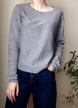 ✨ серый базовый свитер terranova
