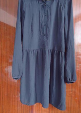Шифоновое платье с белым воротником хс-с