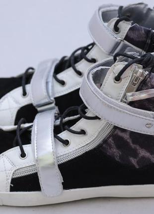 Сникерсы для женщин, черные с серебристым 39 размер