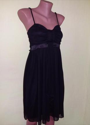 Маленькое черное платье праздничное нарядное/коктейльное