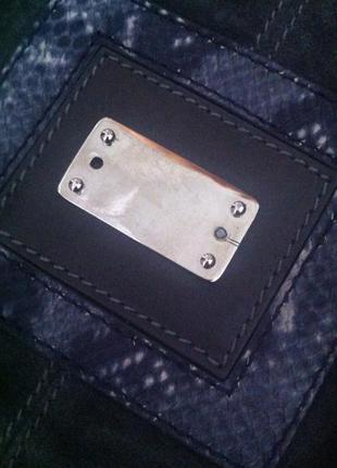 Крутая огромная вместительная сумка-шоппер-баул из натур змеиной кожи и замши deriva3 фото