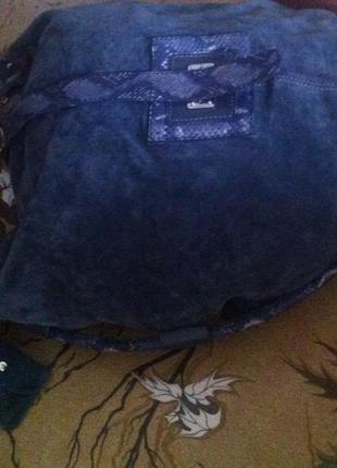 Крутая огромная вместительная сумка-шоппер-баул из натур змеиной кожи и замши deriva5 фото