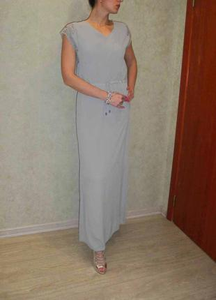 Красивое платье в пол с ажурными плечами object размер 38.