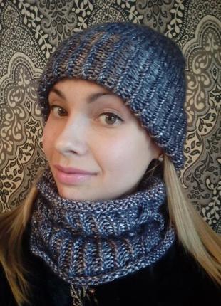 Шапка шарф снуд набор