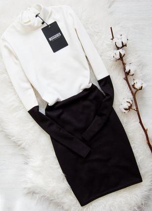 Черно-белое платье  missguided