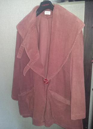 Вельветовая ветровка цвета бордо