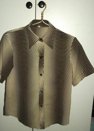 Принт зебра, блузка,  батал
