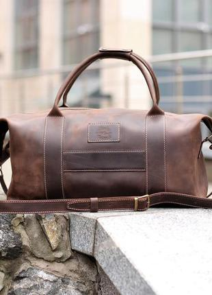 """Кожаная спортивная сумка """"sport&travel"""""""