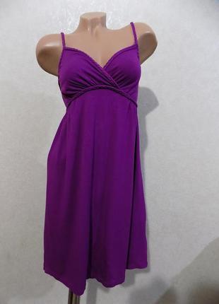 Сарафан на бретельках фиолетовый фирменный h&m турция размер 42