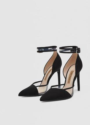 Туфли на каблуке с ремешком zara