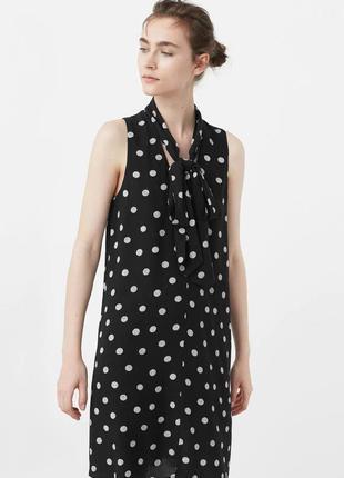 Платье в горошек стильное платье -от mango  вискоза! хит сезона! платье в горох