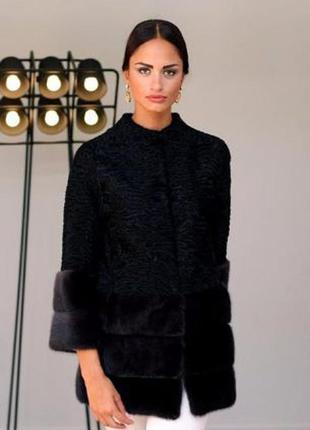 Шикарнейшая вещь! шуба- пальто норка saga  и персидская каракульча