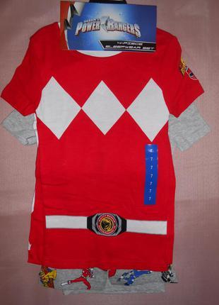 Комплект из 2-х пижам power rangers 4 piece на мальчика 4 и 7 лет пижама летняя