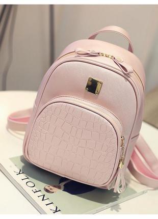Красивый женский рюкзак в розовом цвете