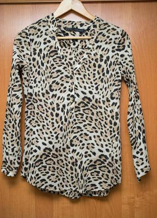 Рубашка блуза блузка леопардовая zara