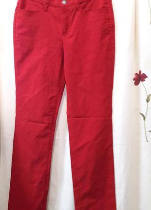 Стрейчевые брючки темно красного цвета