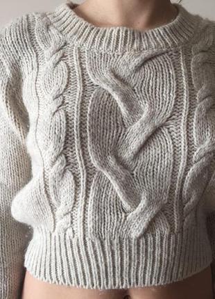 Укороченый свитер h&m
