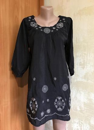 Изумительная блуза,реглан с вышивкой,100%хлопок!