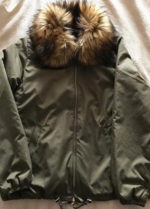 Демисезонная куртка с мехом mohito