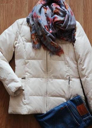 Куртка теплая молочного цвета zara