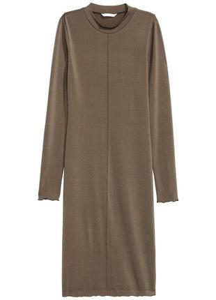 Трикотажное платье миди h&m, xl