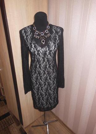Кружевное, вечернее платье