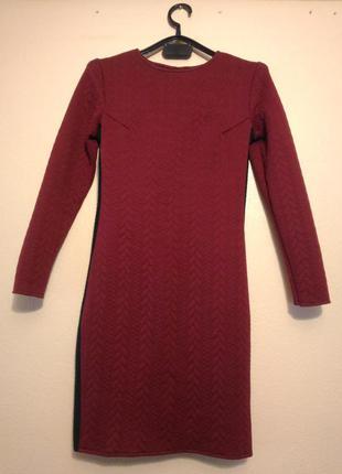 Платье на осень-зиму-весну плотное теплое