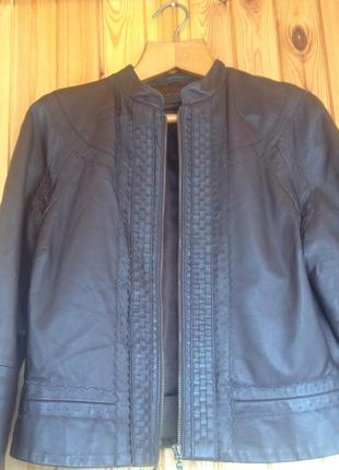 Кожаная куртка! очень стильная!