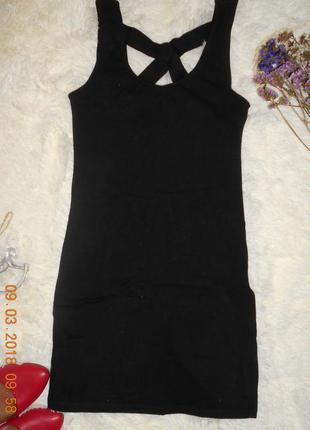 Чорна сукня міні