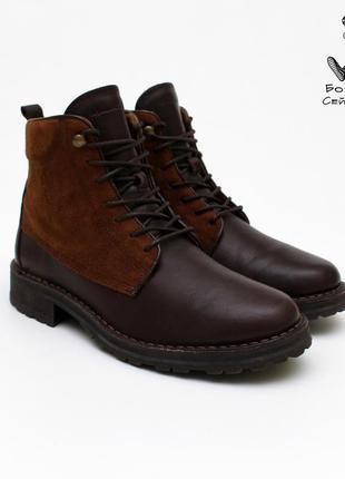 Чоловічі шкіряні черевики massimo dutti / мужские кожаные ботинки 40 размер 25.5 см