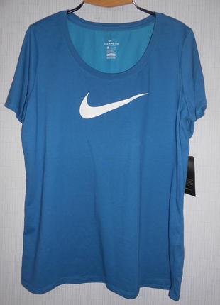 Фирменная  синяя футболка nike оригинал размер xl