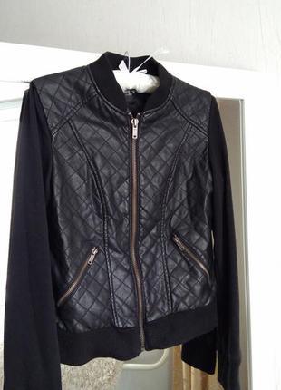 Куртка кожзам курточка черная reserved
