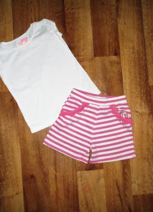 Красивый стильный летний комплект: футболка и шорты next, рост 104-110 см