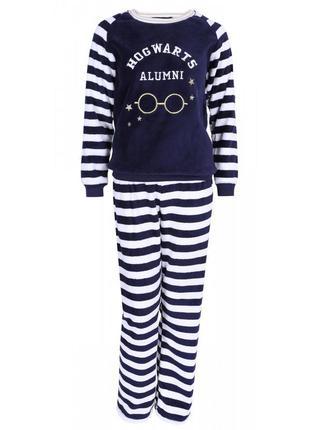 Размеры xs, s, m, l теплая флисовая пижама гарри поттер primark