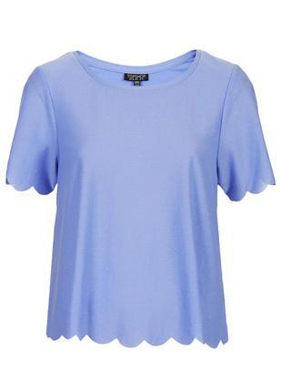 Свободная футболка topshop небесного цвета